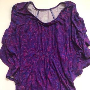 Purple and pink flowy shirt. Mossimo size small.
